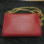 Yves Saint Laurent Paris YSL Red Leather WOC Wallet on Chain GHW Lust4Labels 7