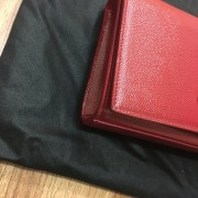 Yves Saint Laurent Paris YSL Red Leather WOC Wallet on Chain GHW Lust4Labels 8