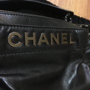 Chanel Classic Logo Black Lambskin Leather LAX Accordion Camera Shoulder Bag Purse Lust4Labels 7