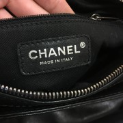 Chanel Classic Logo Black Lambskin Leather LAX Accordion Camera Shoulder Bag Purse Lust4Labels 8