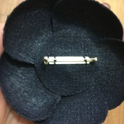 Chanel Classic Tweed Navy Blue Camellia Flower Brooch Pin Corsage Lust4Labels 5