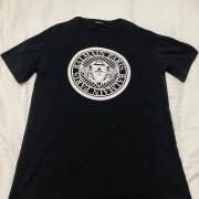 Balmain Black Flocked Medallion Velvet Oversized T Shirt S Lust4Labels 1