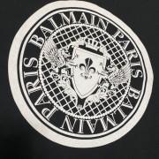Balmain Black Flocked Medallion Velvet Oversized T Shirt S Lust4Labels 2