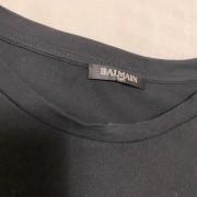 Balmain Black Flocked Medallion Velvet Oversized T Shirt S Lust4Labels 3