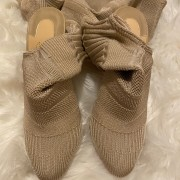 Christian Louboutin Beige Nude Sock Thigh High Cheminetta 120mm Boots SZ 38 Lust4Labels 3
