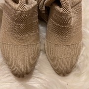 Christian Louboutin Beige Nude Sock Thigh High Cheminetta 120mm Boots SZ 38 Lust4Labels 8