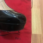 Christian Louboutin Classic Black Patent Leather Bianca 140 Pumps 36.5 Lust4Labels 8