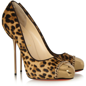 Christian Louboutin Leopard Pony Hair Metalipp 120 Pumps SZ 38 Lust4Labels 9
