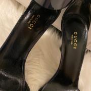 Gucci Navy Blue Patent Leather Ursula Horsebit Pumps SZ 36.5 37.5 Lust4Labels 2