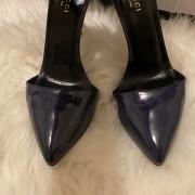 Gucci Navy Blue Patent Leather Ursula Horsebit Pumps SZ 36.5 37.5 Lust4Labels 3