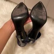 Gucci Navy Blue Patent Leather Ursula Horsebit Pumps SZ 36.5 37.5 Lust4Labels 9