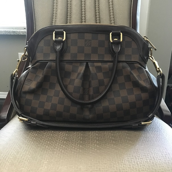 2600 Louis Vuitton Classic Damier Ebene Canvas Trevi PM Satchel Tote Purse.  Return to Previous Page. Out. of stock. trevi pm lightbox · lightbox ae7a6a5ef6f72