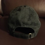 Gucci Monogram Canvas GG Logo Black Stripe Baseball Cap Hat Lust4Labels 2