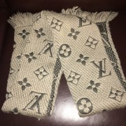 Louis Vuitton Monogram Wool Logomania Scarf Lust4Labels 2