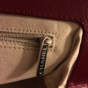 Chanel Classic Quilted Caviar Leather Timeless CC Logo Large Red Clutch Lust4Labels 10