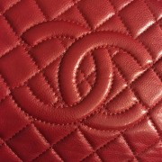 Chanel Classic Quilted Caviar Leather Timeless CC Logo Large Red Clutch Lust4Labels 2