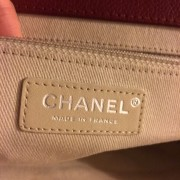 Chanel Classic Quilted Caviar Leather Timeless CC Logo Large Red Clutch Lust4Labels 9
