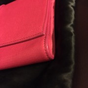 Yves Saint Laurent Pink Pebbled Leather Y Chyc Clutch GHW Lust4Labels 4