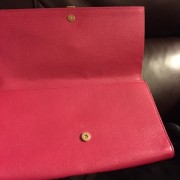 Yves Saint Laurent Pink Pebbled Leather Y Chyc Clutch GHW Lust4Labels 5