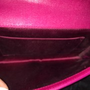 Yves Saint Laurent Pink Pebbled Leather Y Chyc Clutch GHW Lust4Labels 6