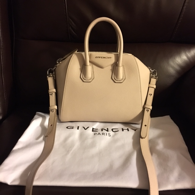 bb5641c03a34  2200 Givenchy Nude Pink Blush Sugar Calf Leather Mini Antigona Bag ...