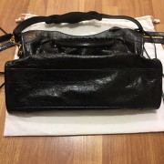 Balenciaga Classic Black Distressed Glazed Lamb Leather City Bag Purse GHW Lust4Labels 9