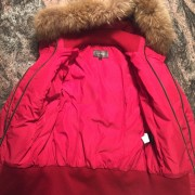 Mackage Romane Cherry Red Down Bomber Jacket XXS Lust4Labels 1