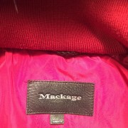 Mackage Romane Cherry Red Down Bomber Jacket XXS Lust4Labels 3
