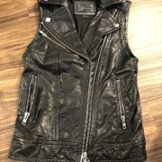 Mackage for Artizia Kenya Black Leather Frederica Vest XXS Lust4Labels 1