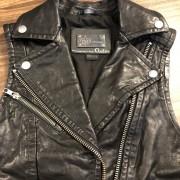 Mackage for Artizia Kenya Black Leather Frederica Vest XXS Lust4Labels 4