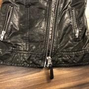 Mackage for Artizia Kenya Black Leather Frederica Vest XXS Lust4Labels 5