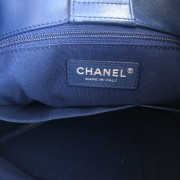 Chanel Classic CC Lock Drawstring Blue Quilted Lamb Bucket Bag Lust4Labels 11