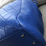 Chanel Classic CC Lock Drawstring Blue Quilted Lamb Bucket Bag Lust4Labels 7
