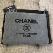 Chanel Classic Deauville Grey Denim Sequin Detail Clutch Pouch Lust4Labels 1