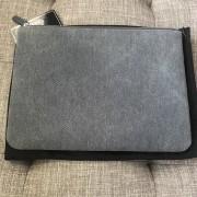 Chanel Classic Deauville Grey Denim Sequin Detail Clutch Pouch Lust4Labels 2
