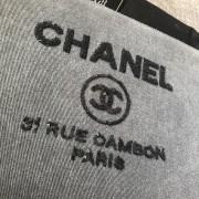Chanel Classic Deauville Grey Denim Sequin Detail Clutch Pouch Lust4Labels 3