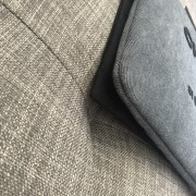 Chanel Classic Deauville Grey Denim Sequin Detail Clutch Pouch Lust4Labels 4