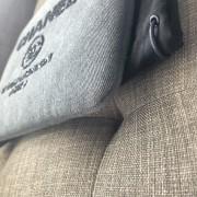 Chanel Classic Deauville Grey Denim Sequin Detail Clutch Pouch Lust4Labels 5