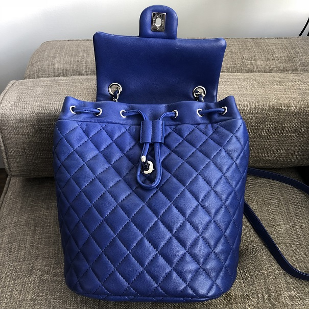 3bbf1970d4c1 Chanel Classic Royal Blue Quilted Lamb Leather Urban Spirit Backpack Bag  Lust4Labels 1 lightbox · lightbox