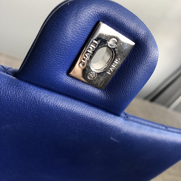 d5a796bfee85 lightbox · lightbox · lightbox. prev. next. Chanel Classic Royal Blue  Quilted Lamb Leather Urban Spirit ...