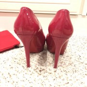 Christian Louboutin Pink Patent Leather Bianca 140 Pumps SZ 35.5 Lust4Labels 3