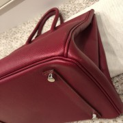 Hermes Paris Classic Rubis Raspberry Red Epsom Leather Birkin 35 Lust4Labels 10