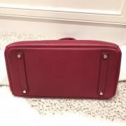 Hermes Paris Classic Rubis Raspberry Red Epsom Leather Birkin 35 Lust4Labels 11