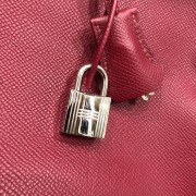 Hermes Paris Classic Rubis Raspberry Red Epsom Leather Birkin 35 Lust4Labels 13