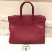 Hermes Paris Classic Rubis Raspberry Red Epsom Leather Birkin 35 Lust4Labels 2