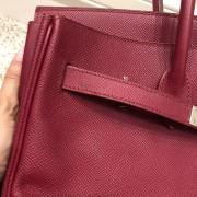 Hermes Paris Classic Rubis Raspberry Red Epsom Leather Birkin 35 Lust4Labels 6
