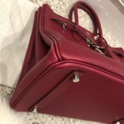 Hermes Paris Classic Rubis Raspberry Red Epsom Leather Birkin 35 Lust4Labels 7