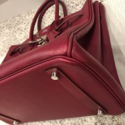 Hermes Paris Classic Rubis Raspberry Red Epsom Leather Birkin 35 Lust4Labels 8