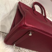 Hermes Paris Classic Rubis Raspberry Red Epsom Leather Birkin 35 Lust4Labels 9