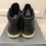 Prada Mens Black Leather High Top Sneakers SZ 38.5 Lust4Labels 3